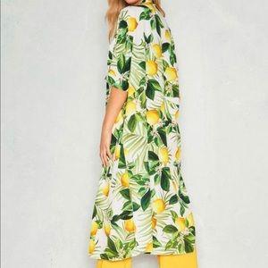 Lemon print Kimono